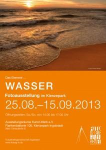 Plakat der Ausstellung  Wasser der Fotoarbeitsgemeinschaft