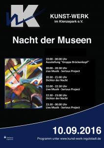 Plakat Programm Nacht der Museen- homepage