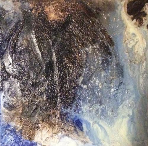 PichlBrigitte-BlauerPlanet2-AcrylMarmormehl-30-30-140