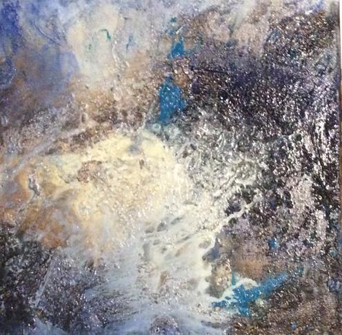 PichlBrigitte-BlauerPlanet4-AcrylMarmormehl-30-30-140