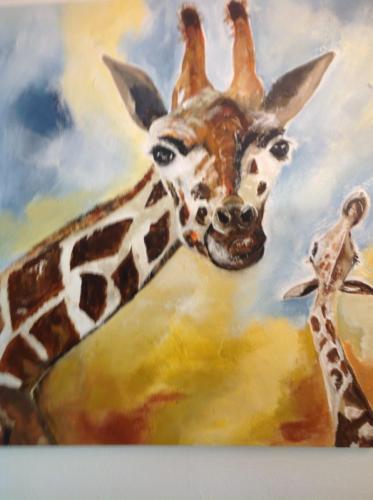 Giraffe mit Kind - Eva Seipp
